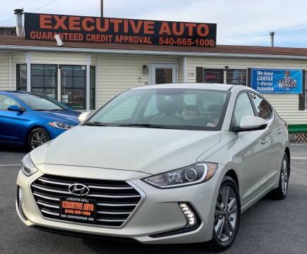 2017 Hyundai Elantra for sale at Executive Auto in Winchester VA