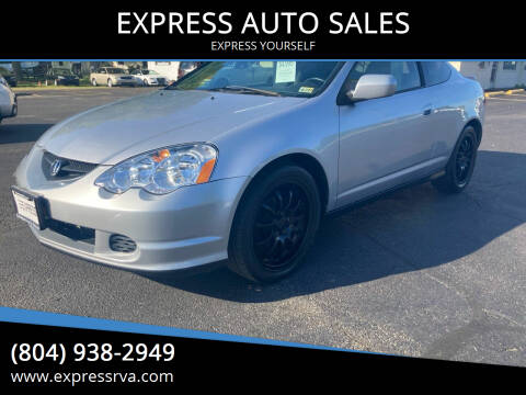 2003 Acura RSX for sale at EXPRESS AUTO SALES in Midlothian VA