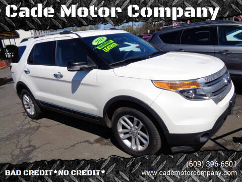 2013 Ford Explorer for sale at Cade Motor Company in Lawrenceville NJ