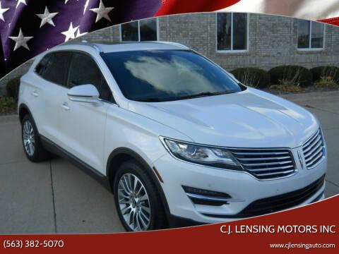 2017 Lincoln MKC for sale at C.J. Lensing Motors Inc in Decorah IA