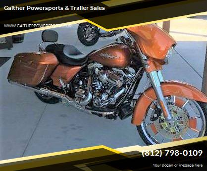 2014 Harley Davidson Street Glide FLHX for sale at Gaither Powersports & Trailer Sales in Linton IN