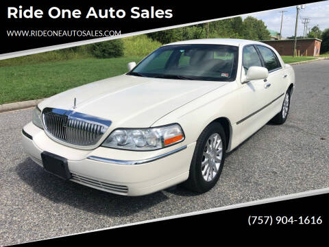 2006 Lincoln Town Car for sale at Ride One Auto Sales in Norfolk VA