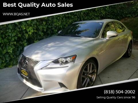 2014 Lexus IS 250 for sale at Best Quality Auto Sales in Sun Valley CA