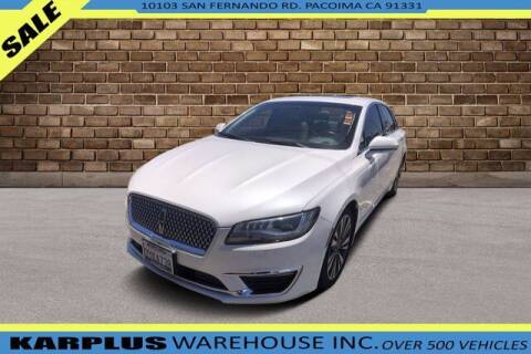 2017 Lincoln MKZ Hybrid for sale at Karplus Warehouse in Pacoima CA