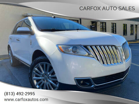 2011 Lincoln MKX for sale at Carfox Auto Sales in Tampa FL