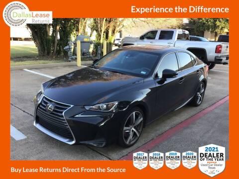 2018 Lexus IS 300 for sale at Dallas Auto Finance in Dallas TX