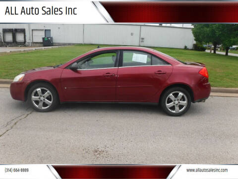 2008 Pontiac G6 for sale at ALL Auto Sales Inc in Saint Louis MO