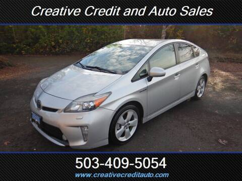 2012 Toyota Prius for sale at Creative Credit & Auto Sales in Salem OR