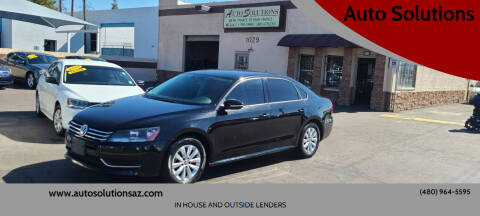 2012 Volkswagen Passat for sale at Auto Solutions in Mesa AZ