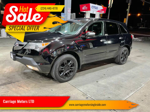 2009 Acura MDX for sale at Carriage Motors LTD in Ingleside IL