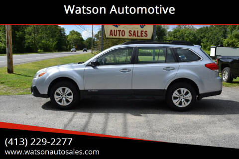 2013 Subaru Outback for sale at Watson Automotive in Sheffield MA