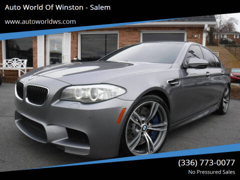 2013 BMW M5 for sale at Auto World Of Winston - Salem in Winston Salem NC