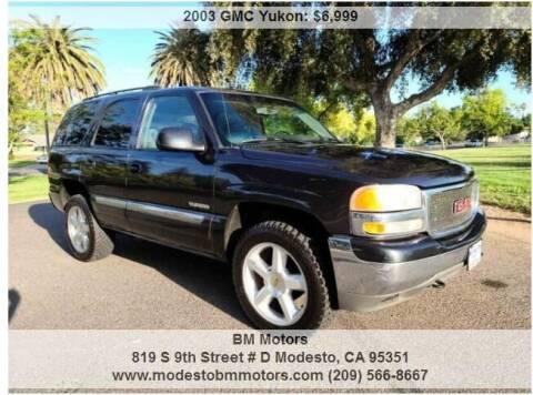 2003 GMC Yukon for sale at BM Motors in Modesto CA