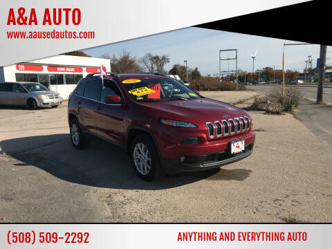 2016 Jeep Cherokee for sale at A&A AUTO in Fairhaven MA