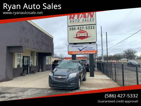 2016 Chevrolet Trax for sale at Ryan Auto Sales in Warren MI
