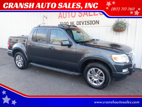 2010 Ford Explorer Sport Trac for sale at CRANSH AUTO SALES, INC in Arlington TX
