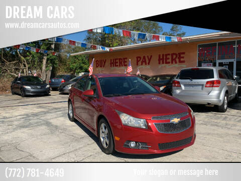 2013 Chevrolet Cruze for sale at DREAM CARS in Stuart FL