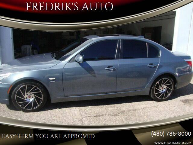2009 BMW 5 Series for sale at FREDRIK'S AUTO in Mesa AZ