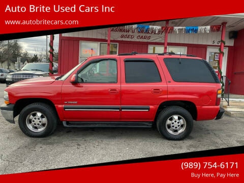 2001 Chevrolet Tahoe for sale at Auto Brite Used Cars Inc in Saginaw MI