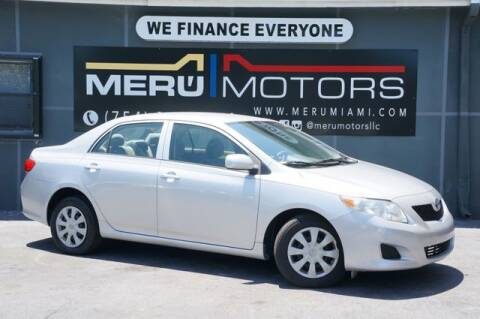 2009 Toyota Corolla for sale at Meru Motors in Hollywood FL