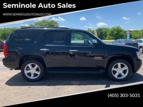 2011 Chevrolet Tahoe for sale at Seminole Auto Sales in Seminole OK