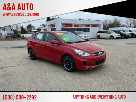 2012 Hyundai Accent for sale at A&A AUTO in Fairhaven MA