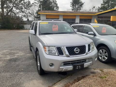 2011 Nissan Pathfinder for sale at PIRATE AUTO SALES in Greenville NC