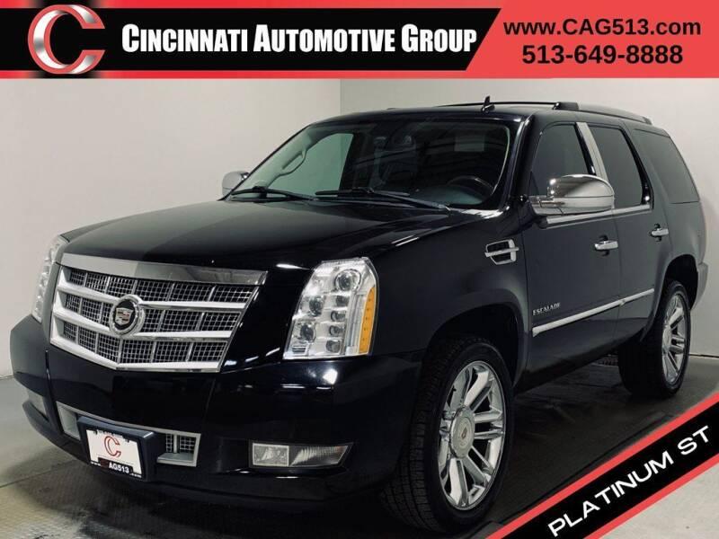 2012 Cadillac Escalade for sale at Cincinnati Automotive Group in Lebanon OH