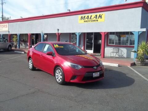 2016 Toyota Corolla for sale at Atayas Motors INC #1 in Sacramento CA