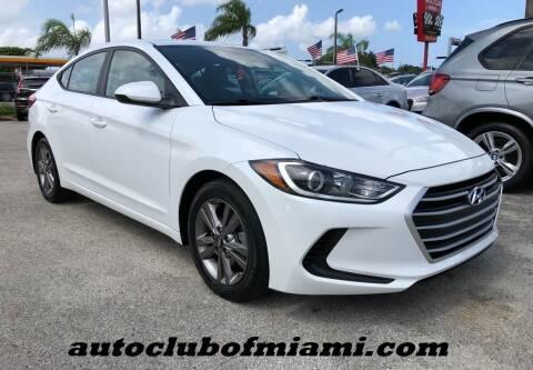 2017 Hyundai Elantra for sale at AUTO CLUB OF MIAMI, INC in Miami FL