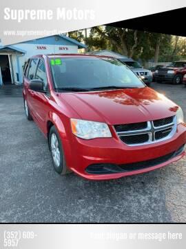 2013 Dodge Grand Caravan for sale at Supreme Motors in Tavares FL