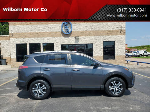 2018 Toyota RAV4 for sale at Wilborn Motor Co in Fort Worth TX