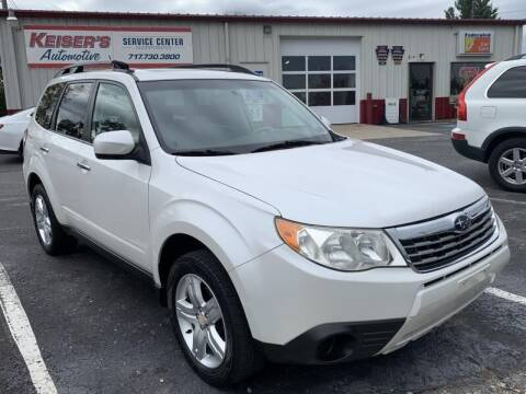 2010 Subaru Forester for sale at Keisers Automotive in Camp Hill PA