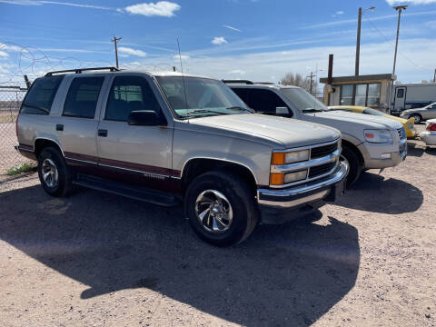 1999 Chevrolet Tahoe for sale at PYRAMID MOTORS - Fountain Lot in Fountain CO