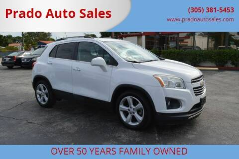 2015 Chevrolet Trax for sale at Prado Auto Sales in Miami FL