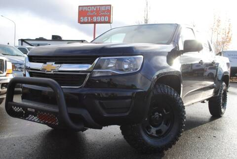 2016 Chevrolet Colorado for sale at Frontier Auto & RV Sales in Anchorage AK