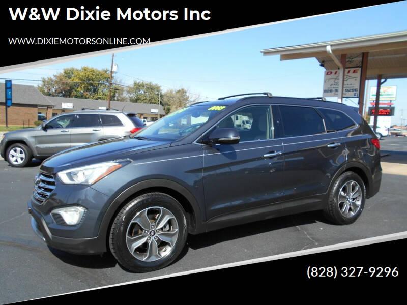 2013 Hyundai Santa Fe for sale at W&W Dixie Motors Inc in Hickory NC