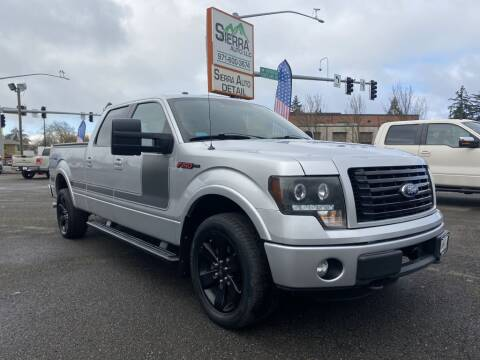 2012 Ford F-150 for sale at SIERRA AUTO LLC in Salem OR