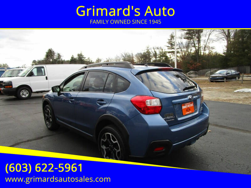 2015 Subaru XV Crosstrek for sale at Grimard's Auto in Hooksett, NH