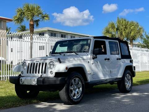 2015 Jeep Wrangler Unlimited for sale at Auto Direct of South Broward in Miramar FL
