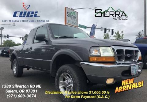 2000 Ford Ranger for sale at SIERRA AUTO LLC in Salem OR