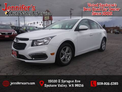 2016 Chevrolet Cruze Limited for sale at Jennifer's Auto Sales in Spokane Valley WA