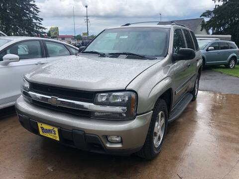 2002 Chevrolet TrailBlazer for sale at Blakes Auto Sales in Rice Lake WI
