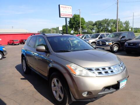 2004 Nissan Murano for sale at Marty's Auto Sales in Savage MN