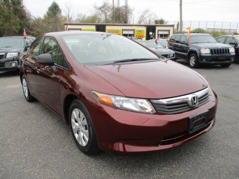2012 Honda Civic for sale at Unlimited Auto Sales Inc. in Mount Sinai NY