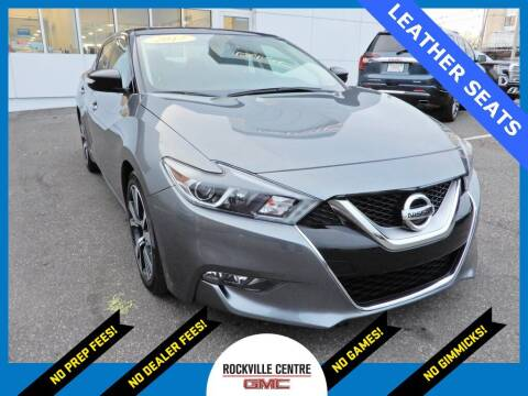 2017 Nissan Maxima for sale at Rockville Centre GMC in Rockville Centre NY