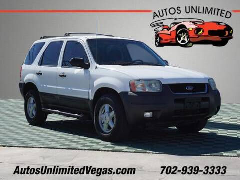 2003 Ford Escape for sale at Autos Unlimited in Las Vegas NV