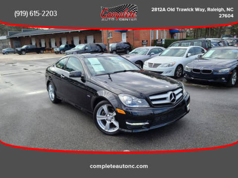 2012 Mercedes-Benz C-Class for sale at Complete Auto Center , Inc in Raleigh NC