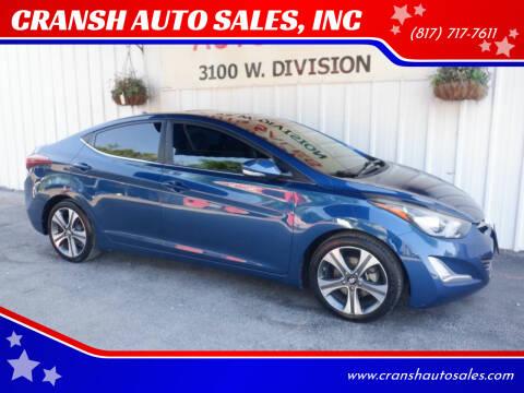 2014 Hyundai Elantra for sale at CRANSH AUTO SALES, INC in Arlington TX