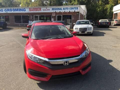 2018 Honda Civic for sale at REGIONAL AUTO CENTER in Stafford VA
